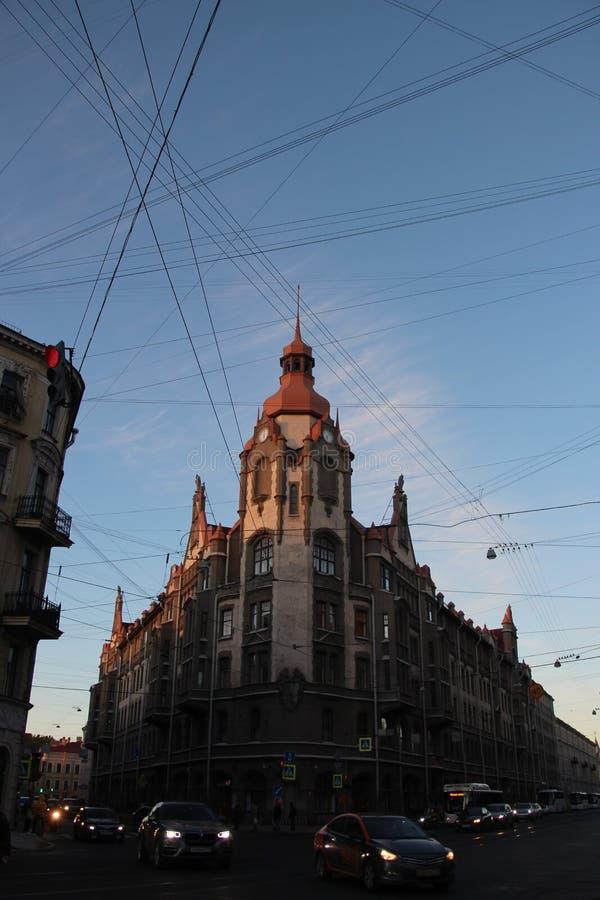 Gebäude von Heiligen Petersburg Sadovay-Straße St Petersburg Russland Russland stockfotografie