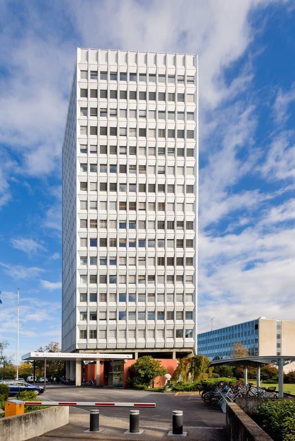 Gebäude von IFU, die Vereinten Nationen in Genf, die Schweiz stockfotografie