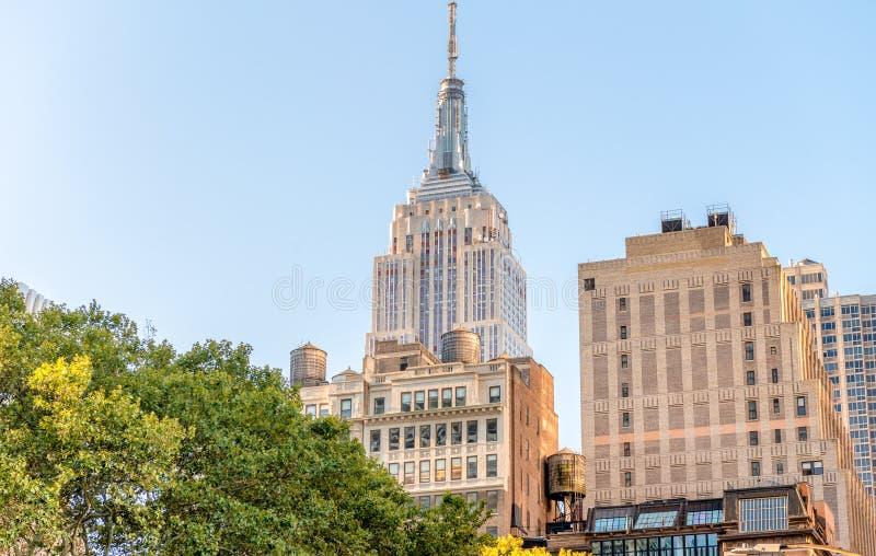 Gebäude von Midtown Manhattan stockbilder