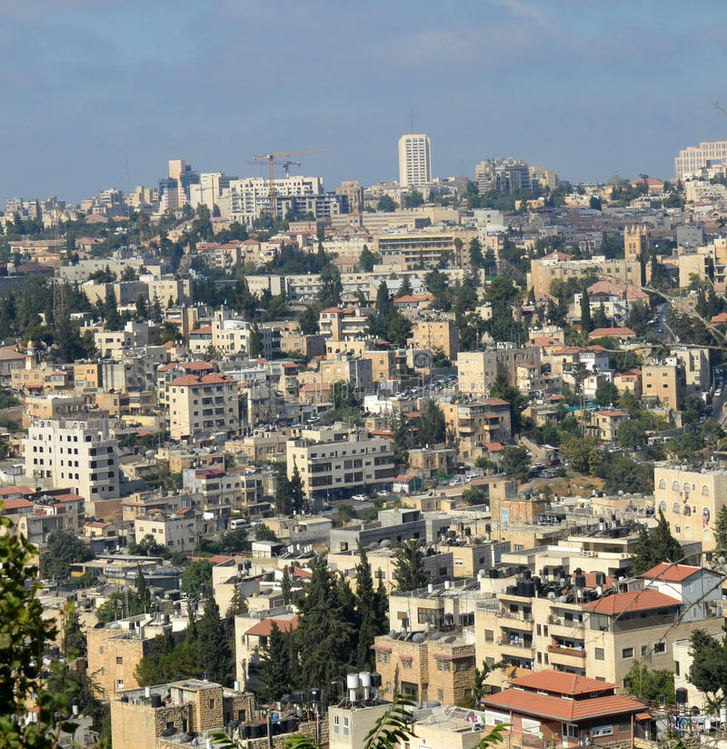 Gebäude von modernem Jerusalem stockbilder