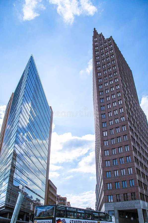 Gebäude von Potzdamer Platz, Berlin stockfotos