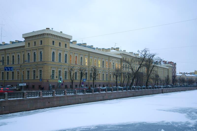 Gebäude von St- Petersburgstaatlicher universität der Luftfahrtinstrumentierung, St Petersburg stockfotos
