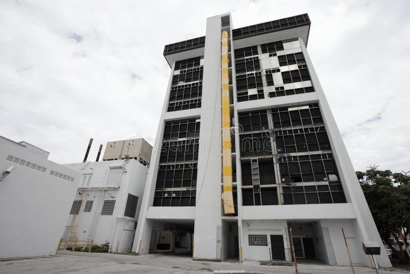 Gebäude zerstört stockbild
