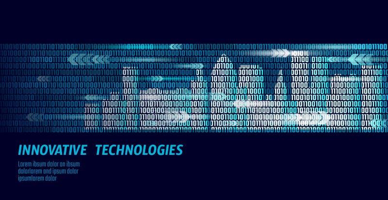 Gebäudeautomatisierungssystem-Geschäftskonzept der intelligenten Stadt intelligentes Binär Code-Kennzifferdatenfluss Architektur  vektor abbildung