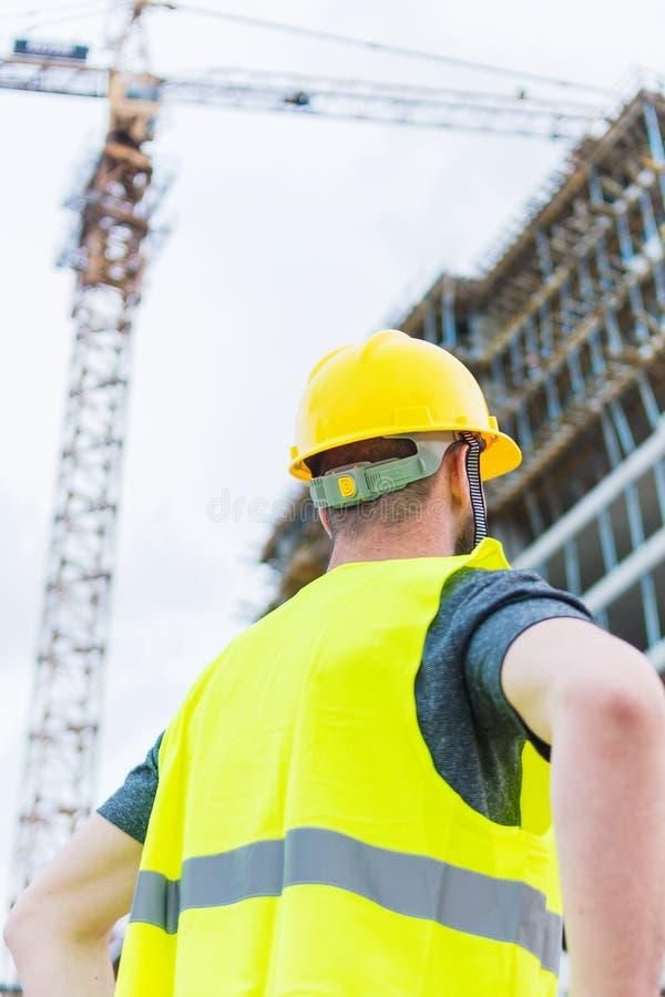 Gebäudebauarbeiter-Ingenieuraufstellung lizenzfreies stockfoto