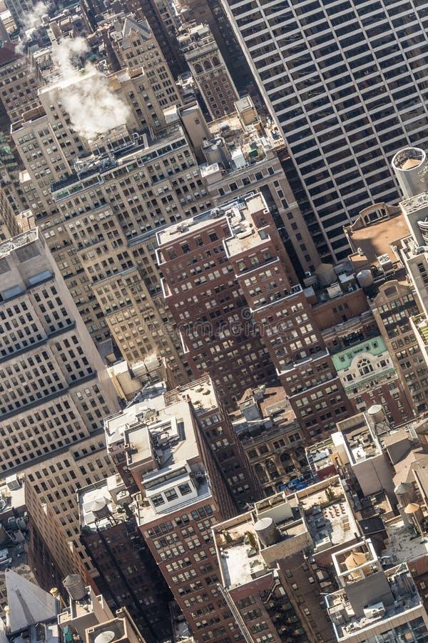 Gebäudedachspitzen New York City, Midtown Manhattan USA stockbilder