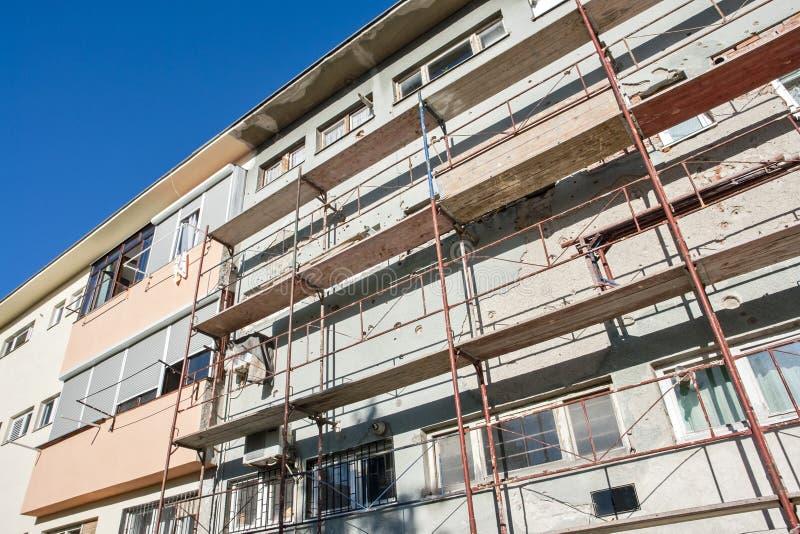 Gebäudeerneuerung stockfotos