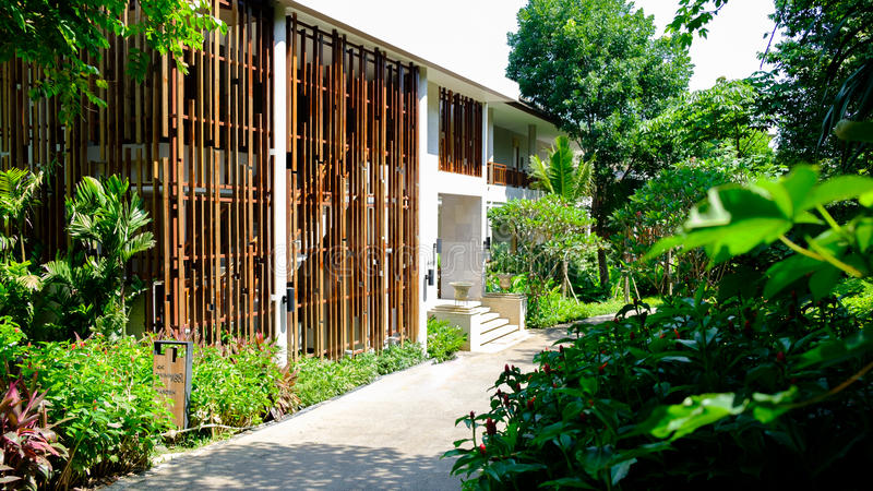 Gebäudehotel Thailand-Erholungsort am khaoyai lizenzfreies stockfoto
