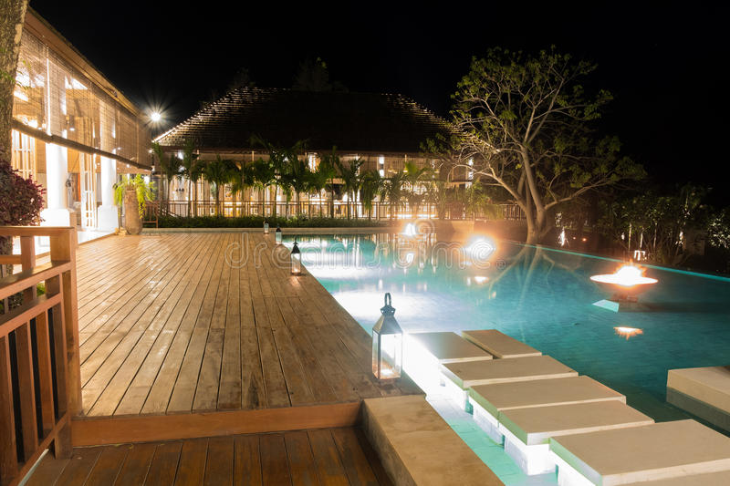 Gebäudehotel Thailand-Erholungsort am khaoyai stockfotografie