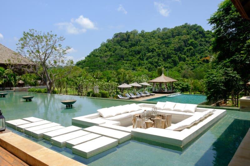 Gebäudehotel Thailand-Erholungsort am khaoyai lizenzfreie stockfotos