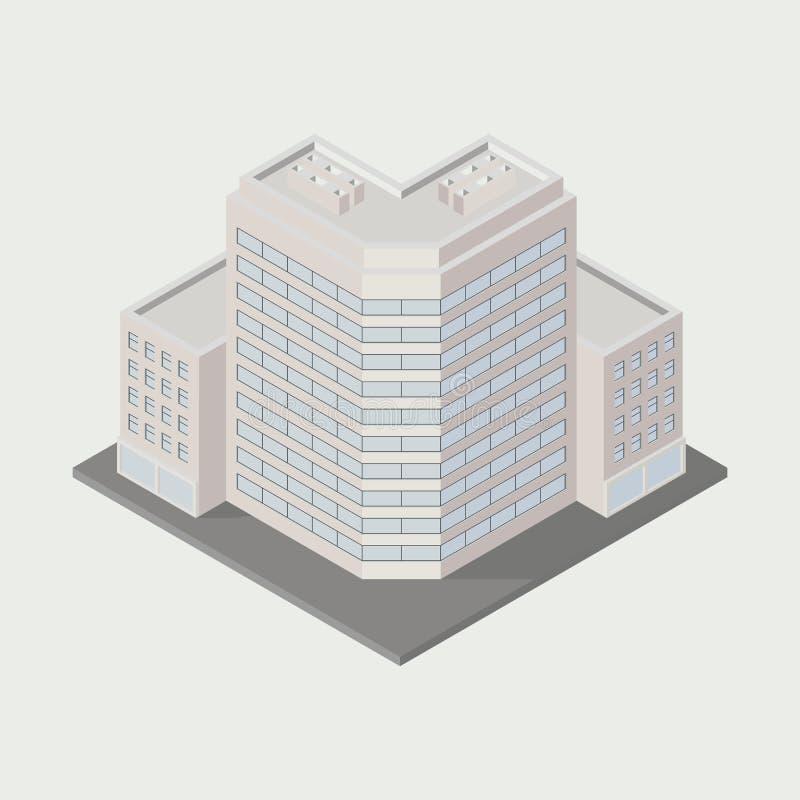 Gebäudeikone stock abbildung