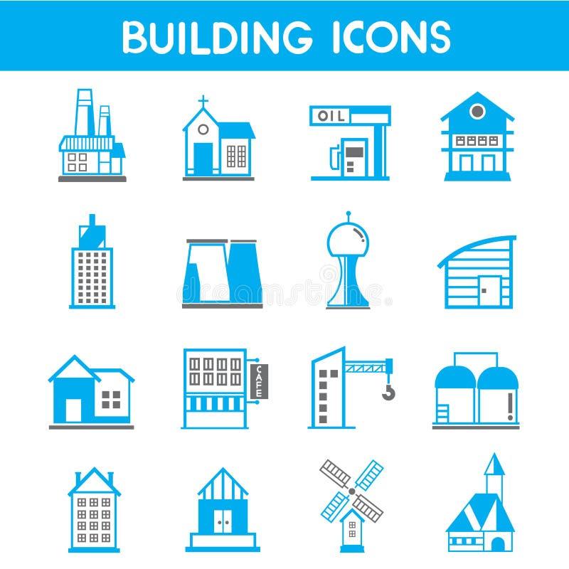 Gebäudeikonen lizenzfreie abbildung