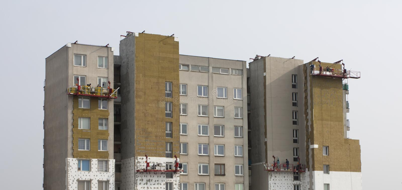 Gebäudeisolierung stockbild