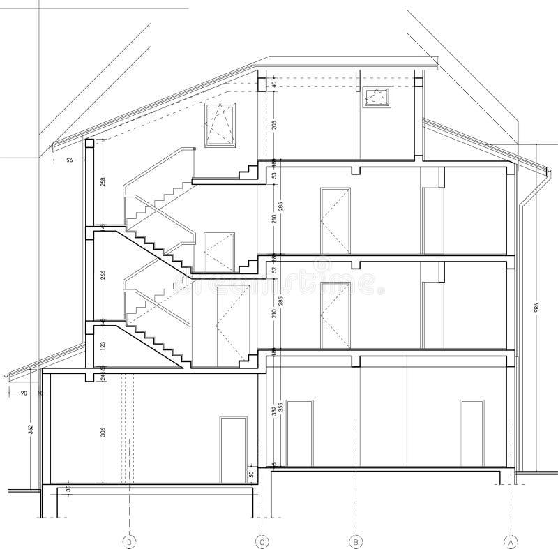 Gebäudekapitelzeichnung lizenzfreies stockfoto