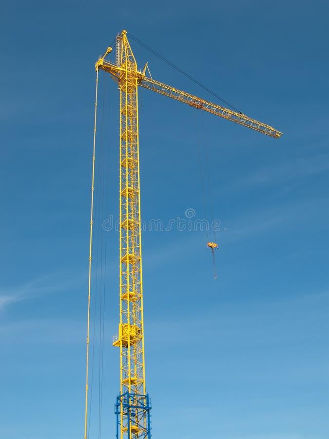 Gebäudekran lizenzfreie stockfotos