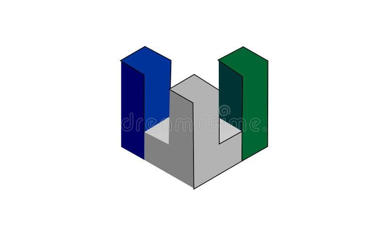 Gebäudelogodesign lizenzfreie abbildung