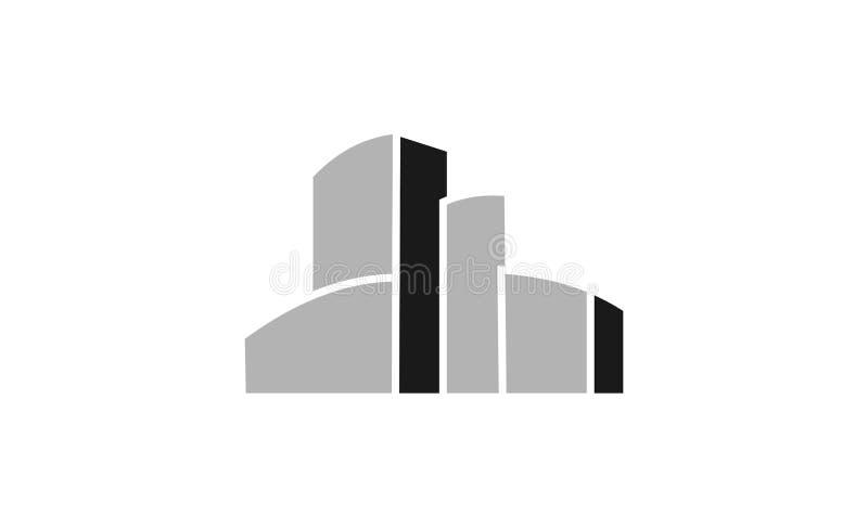 Gebäudelogodesign vektor abbildung