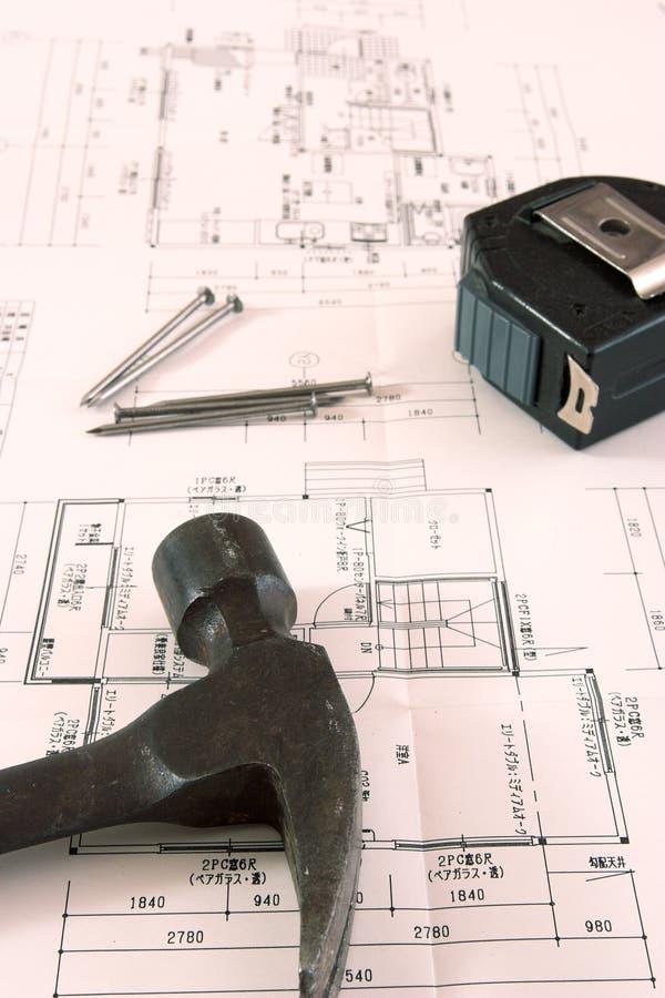 Gebäudeplan stockfotografie
