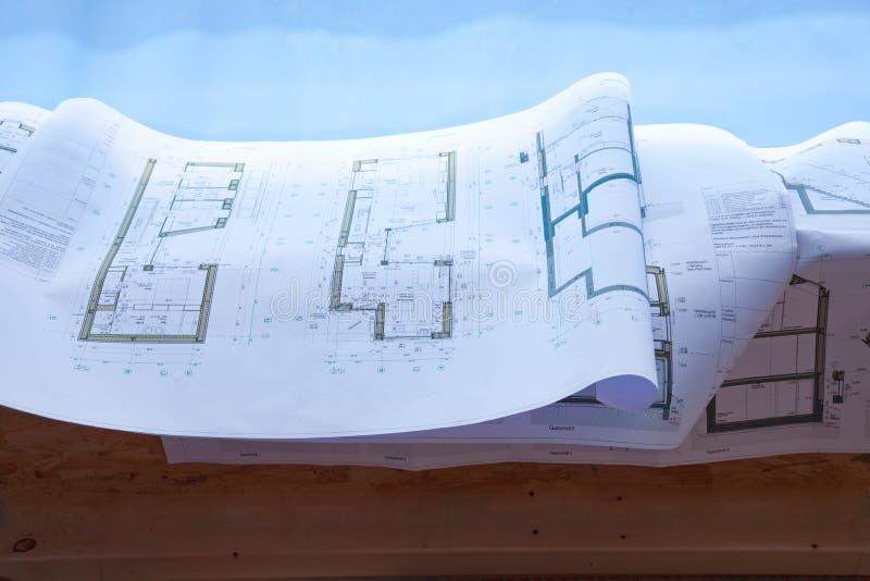 Gebäudeplan lizenzfreie stockbilder