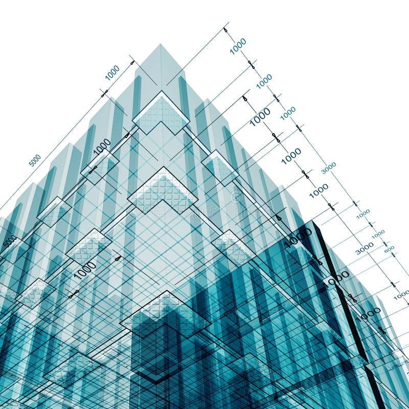 Gebäudetechnik stock abbildung
