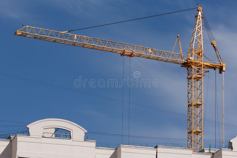GebäudeTurmkran stockfotografie
