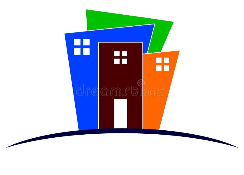 Gebäudezeichen lizenzfreie abbildung