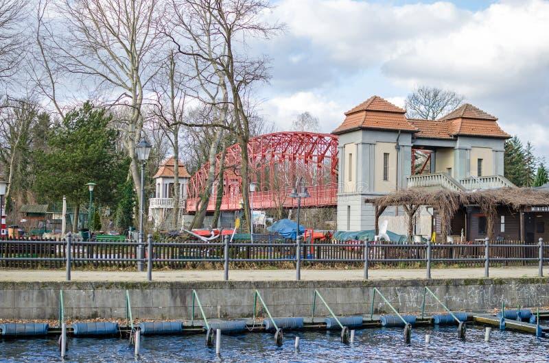 Gebündelte Bogen Hafenbrücke Tegeler Hafenbruecke oder, populärer stockbilder