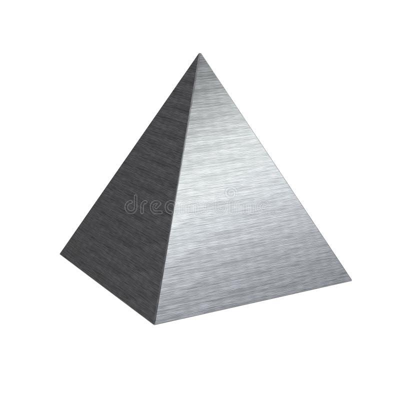 Gebürstete Beschaffenheitsmetallstahlpyramide lizenzfreie stockfotografie