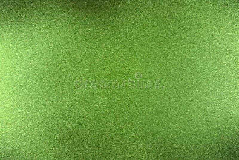 Gebürstete dunkelgrüne metallische Wand, abstrakter Beschaffenheitshintergrund lizenzfreie abbildung