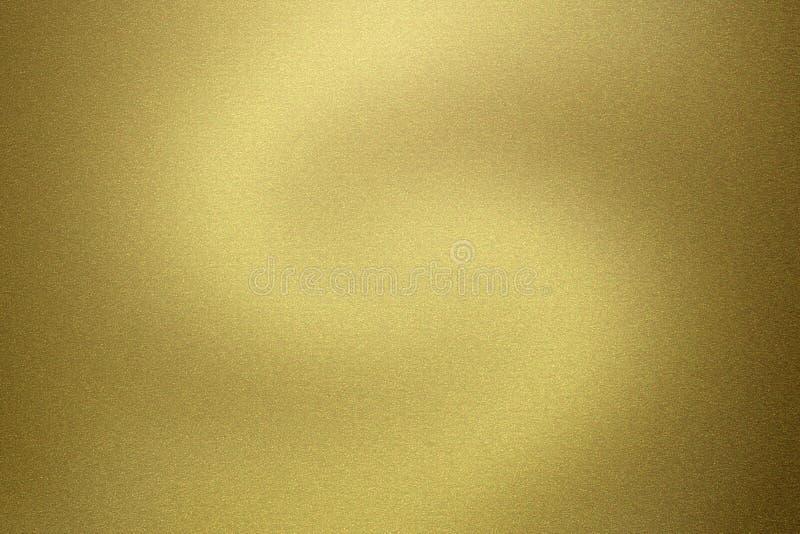 Gebürstete glatte goldene metallische Beschaffenheit, abstrakter Hintergrund stock abbildung