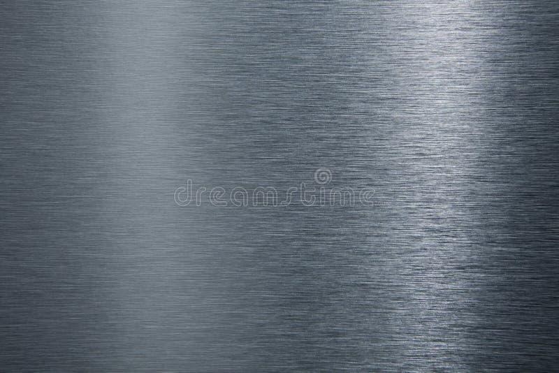 Gebürstete Metallplatte. lizenzfreie stockfotos