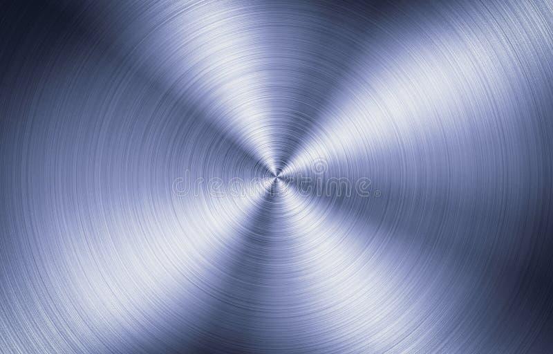 Gebürstete Metallrunde Beschaffenheit lizenzfreies stockfoto