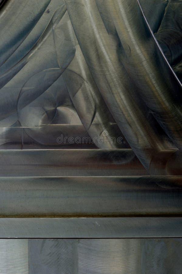 Gebürsteter Metallbeschaffenheits-Zusammenfassungshintergrund stockfoto