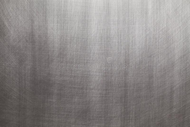 Gebürstetes Aluminium- oder Stahl - silberner Hintergrund stockbilder