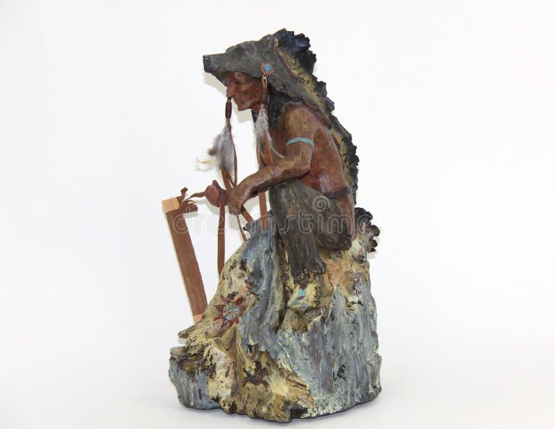 Gebürtige indianische Statue stockbilder