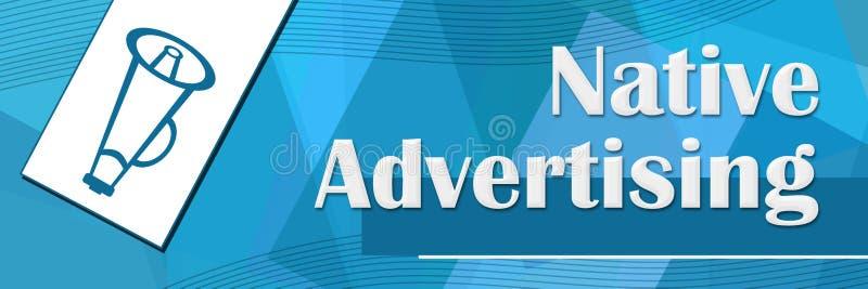 Gebürtige Werbungs-gelegentlicher Form-Blau-Hintergrund stock abbildung