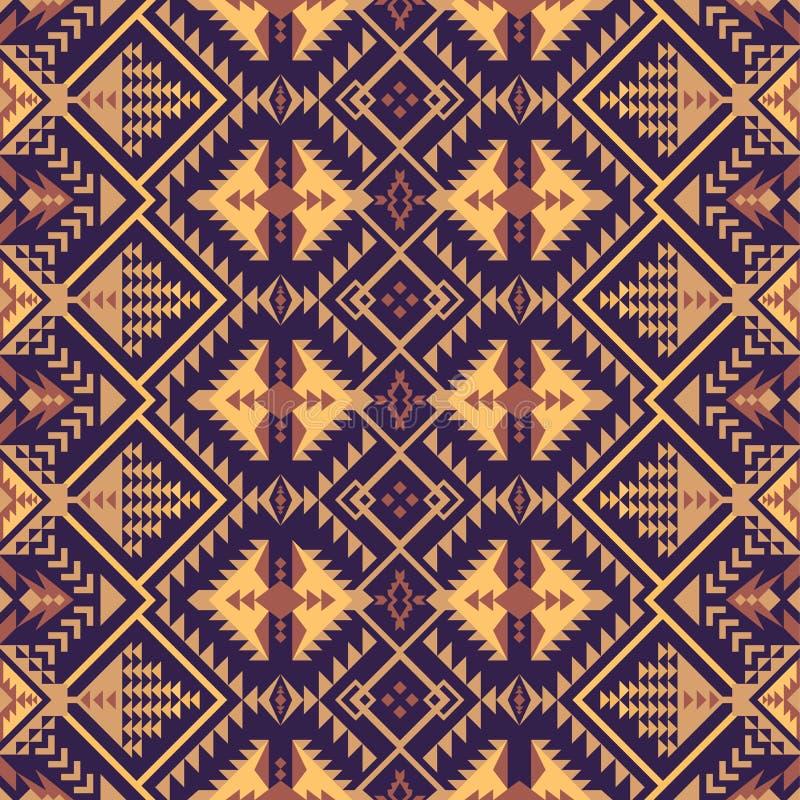 Gebürtiger Südwesten amerikanisch, indisch, aztekisch, nahtloses Muster des Navajos Geometrische Auslegung stock abbildung