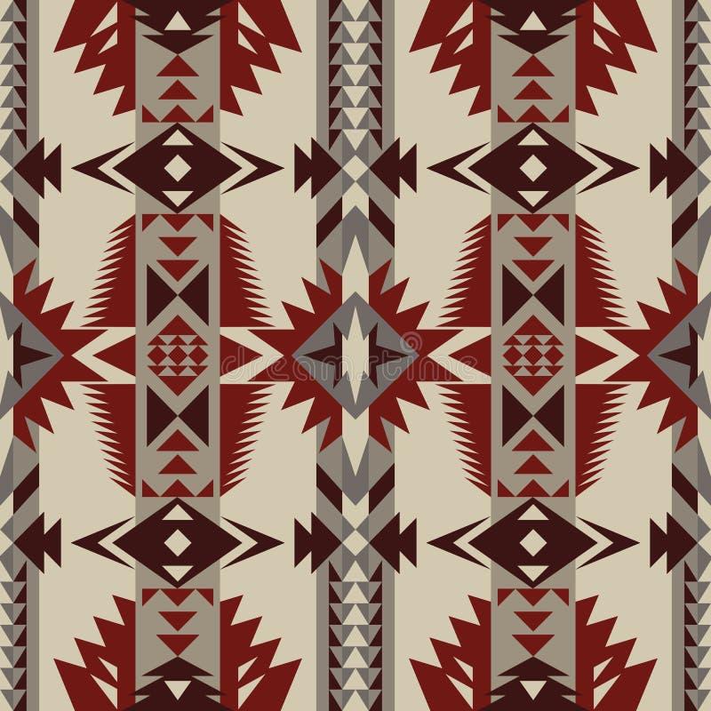 Gebürtiger Südwesten amerikanisch, indisch, aztekisch, nahtloses Muster des Navajos Geometrische Auslegung vektor abbildung