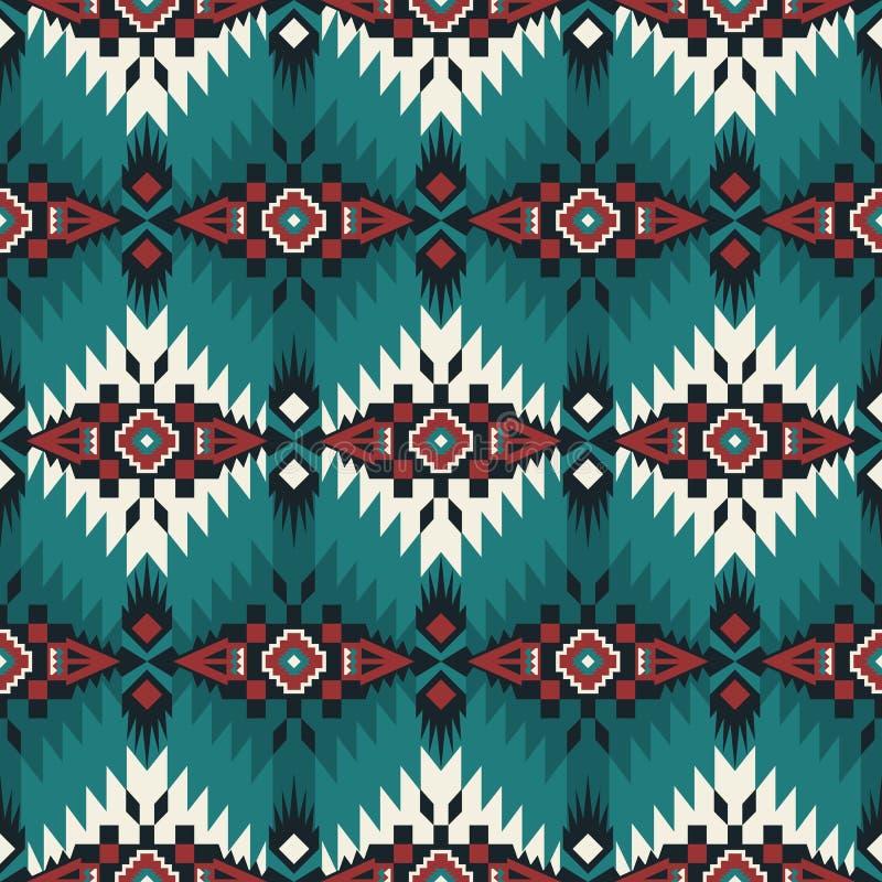 Gebürtiger Südwesten amerikanisch, indisch, aztekisch, nahtloses Muster des Navajos Geometrische Auslegung lizenzfreie abbildung