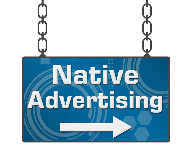 Gebürtiges Werbungs-Schild vektor abbildung