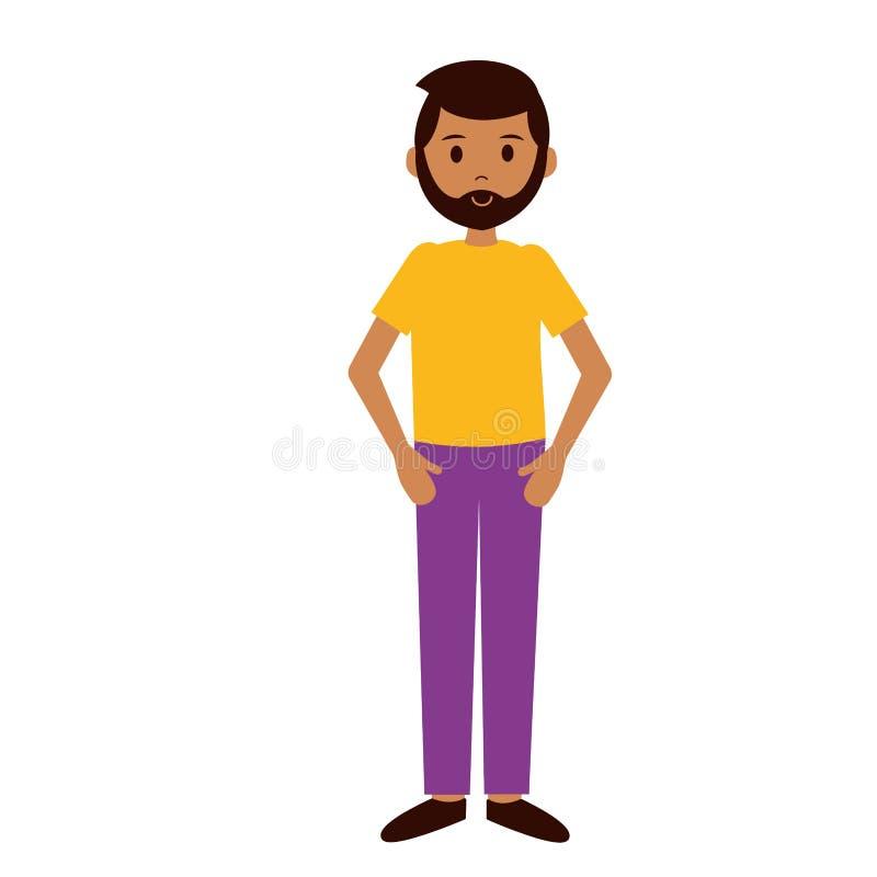 Gebaard mensenkarakter vector illustratie
