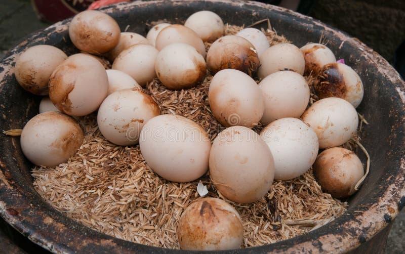 Gebackene Eier lizenzfreie stockbilder