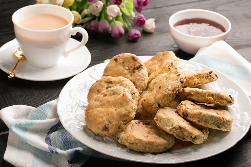 Englische öfen gebackene englische kekse stockbild bild ofen butter 65458631