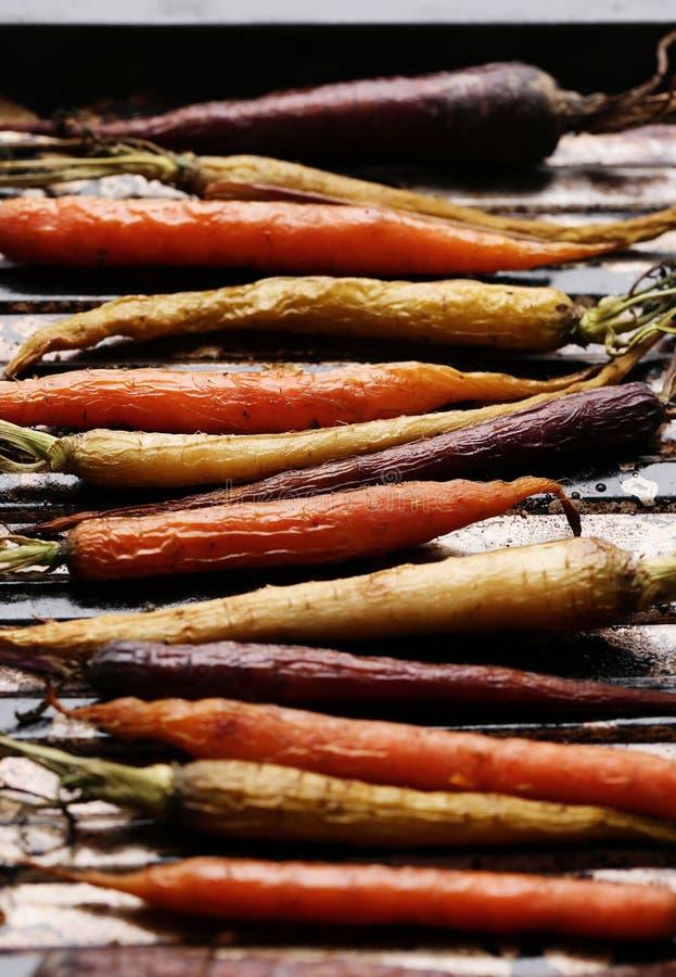 Gebackene Karotten stockfoto