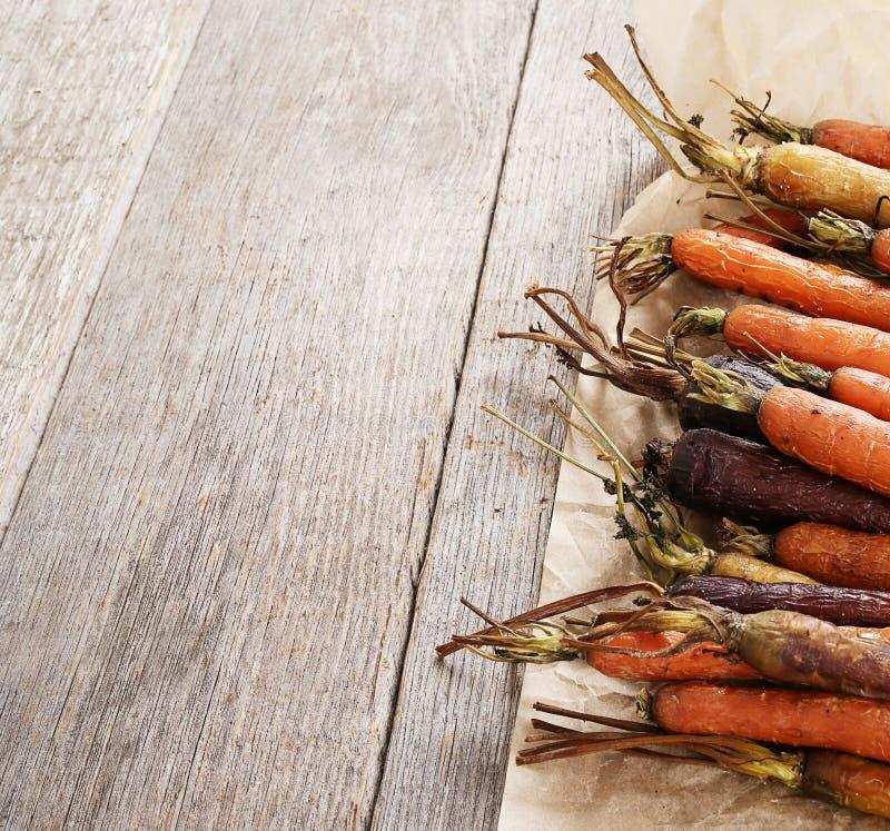 Gebackene Karotten lizenzfreie stockbilder
