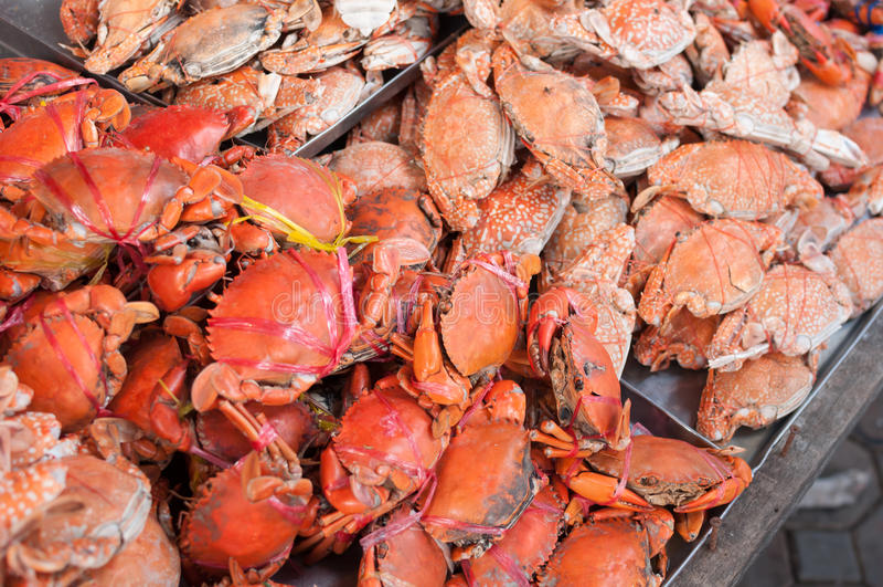 Gebackene Krabbe stockfoto