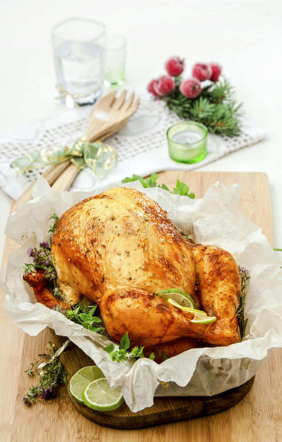 Gebackenes Huhn mit Kräutern