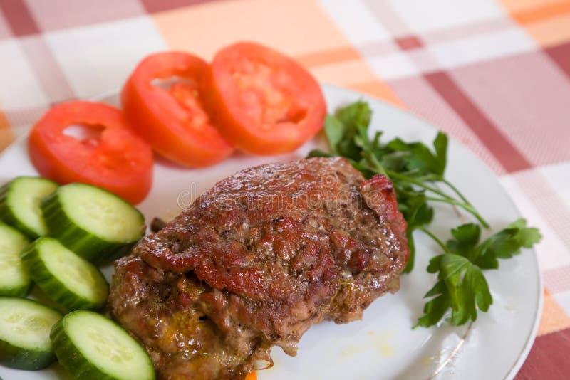 Gebackenes Rindfleisch stockbilder