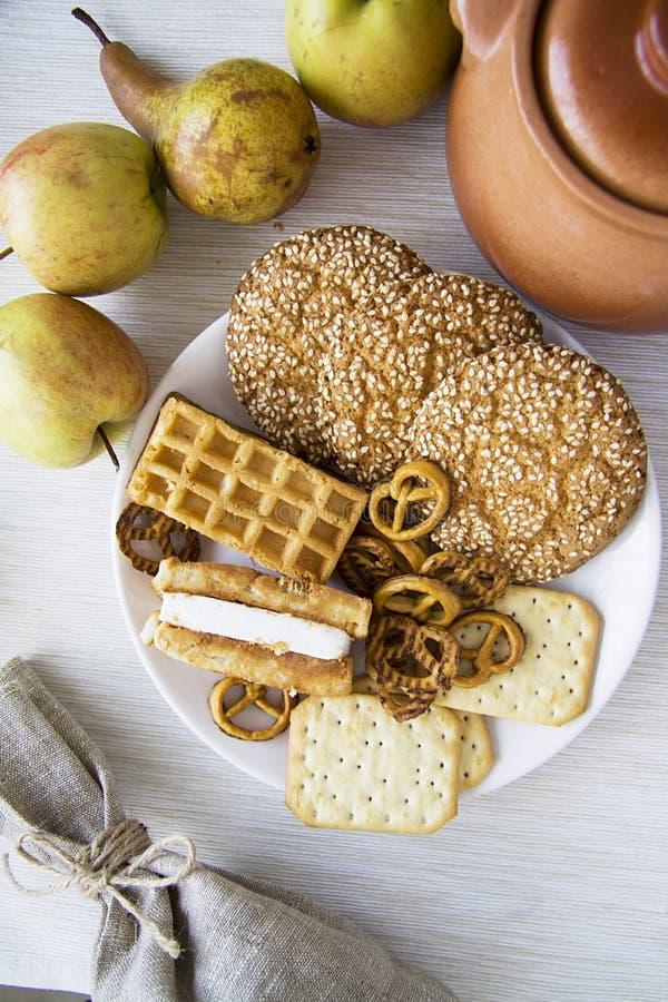 Gebakjeproductie met peren 20 stock foto
