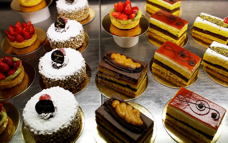 Gebakjes en cakes royalty-vrije stock foto's